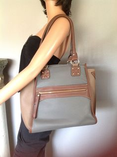 Melie Bianco Bag Purse Designer Fashion Gray Taupe Brown  Hip Chic Stylish  #MelieBianco #Satchel
