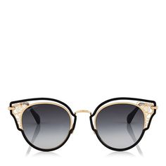 Dhelia Sunglasses in Black and Rose Gold Metal. Discover our Cruise 18 Collection and shop the latest trends today. Jimmy Choo Sunglasses, Sunglasses Sale, Cat Eye Sunglasses, Round Sunglasses, Designer Glasses Frames, Sunglasses Women Designer, Oversized Aviator Sunglasses, Women's Accessories, Latest Trends