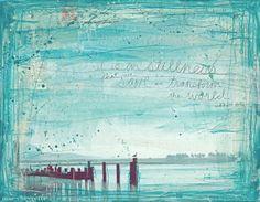 Stillness - 14 x 11 paper print  by mae chevrette,  It is in stillnes that we save and tranform the world, Eckhart Tolle