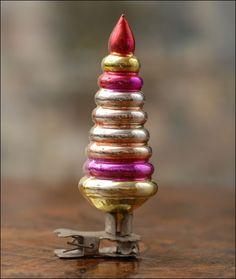 Antique Glass Christmas Tree Clip Ornament