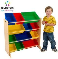 toy storage- these are like the kind of shelves we have at my school but they are only two shelf shelves I believe and not 4 like this on.  I was thinking it could be the buckets in the front like the picture for that play area I want to make dad?