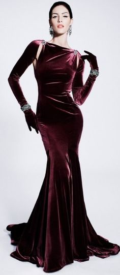 Zac Posen. I picture Coco Rocha wearing this... as she always looks amazing in Posen's designs.