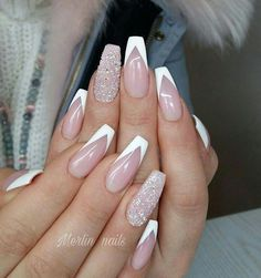 nails french tip ~ nails french tip . nails french tip color . nails french tip with design . nails french tip glitter . nails french tip ombre . nails french tip acrylic . nails french tip coffin . nails french tip short White Tip Nail Designs, Acrylic Nail Designs, French Nail Designs, French Tip Design, White Tip Acrylic Nails, White Nails, White French Nails, Nagellack Design, Nagellack Trends