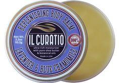 IlCURATIO BODY BALM / XL Size / 3.3 ounces / Lavender & Blue Chamomile Body Balm / Lavender Essential Oil Hand  Body Salve / free shipping