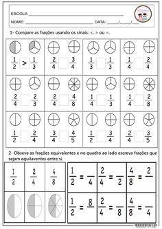 Boda Boglárka's media statistics and analytics Fractions Worksheets, Printable Math Worksheets, Reading Worksheets, Math Fractions, Education Positive, Kids Education, Math Resources, Math Activities, Math Notebooks