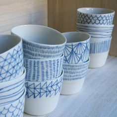 With a ceramic pen this is so easy! We have a lot of white dishes and I think this could make them lively again! Plus with a ceramic pen it is dishwasher safe!!  mHastings