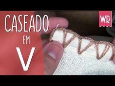 """Caseado """"COSTURINHA"""" em crochê - YouTube"""