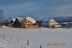 My home in Vingelen, Norway (the white one).