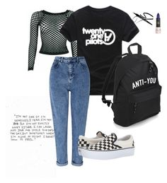 """""""tried grunge"""" by grungeattempt on Polyvore featuring WithChic, Miss Selfridge and Vans"""