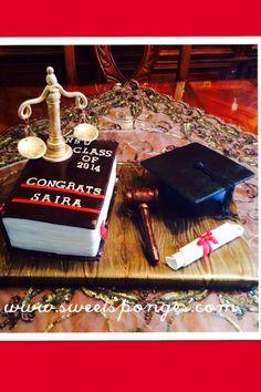Graduation cake www.sweetsonges.com