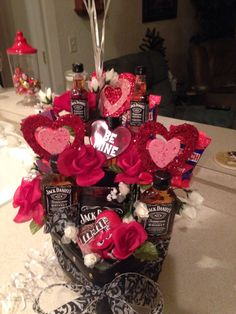 Jack Daniels flower arrangement