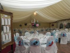 Wedding Marquee in the venue of Ballintaggart Hse Marquee Wedding, Wedding Venues, Table Decorations, Furniture, Home Decor, Wedding Places, Homemade Home Decor, Home Furnishings, Decoration Home