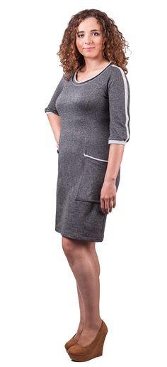Sukienka dresowa z rękawem raglanowym i cięciem francuskim - wykrój Vzory  Na Šaty 3d23dca6a1