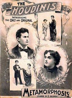 Houdini Metamorphosis Magic Poster | eBay