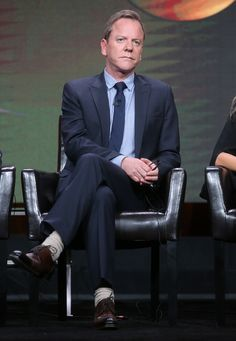 Kiefer Sutherland Photos Photos - Actor Kiefer Sutherland speaks onstage at the 'Designated Survivor' panel discussion during the Disney ABC Television Group portion of the 2016 Television Critics Association Summer Tour at The Beverly Hilton Hotel on August 4, 2016 in Beverly Hills, California. - 2016 Summer TCA Tour - Day 9