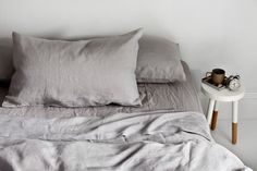 Super soft linen with a splash of colour from Major Minor - The Interiors Addict Linen Sheets, Linen Bedding, Bed Sheets, Fitted Sheets, Bed Linens, Natural Bedding, Quilt Cover, California King, Sheet Sets