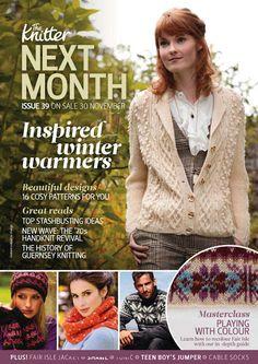 The Knitter - maria sabatini - Picasa Albums Web Crochet Book Cover, Crochet Books, Knit Crochet, Knitting Magazine, Crochet Magazine, Knitting Books, Hand Knitting, Cardigan, Winter Warmers