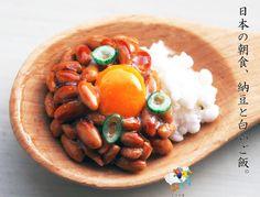 【受注制作】【新作】納豆ご飯の食品サンプル 天然木製キーホルダー