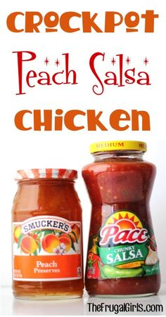 Crockpot Peach Salsa Chicken Recipe