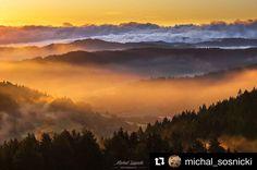 Psssssst... iba vychutnávať!  #praveslovenske od @michal_sosnicki  Hanusovske sedlo. Spiska Magura. #landscape #slovakia #mountains #nature #sunset #fog #sunrise #inversion #clouds #sky #hills #trees #forest #mountains #spis #slovensko