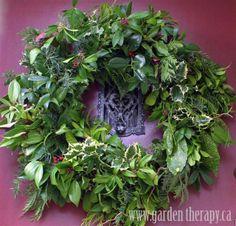 winter door wreaths | Big lush front door wreath | Holiday Garden Decor: Winter