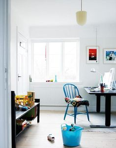 Home office - work room combine with playroom
