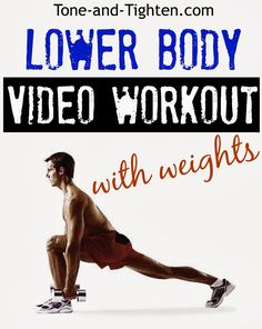 Lower Body Workout with Weights- this is a killer workout!!