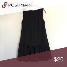 Black long tunic pleated peplum drop waist 2 XS So cute! Fully lined in excellent condition. Semi sheer material is so soft and flowy! Size 2, or XS. bundle to save 25%! H&M Tops