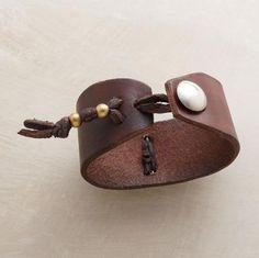 Leather cuff bracelet                                                                                                                                                      More