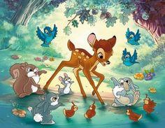 Bambi and Friends Disney Amor, Art Disney, Disney Love, Disney Pixar, Images Disney, Disney Pictures, Bambi And Thumper, Bambi 3, Disney Mignon