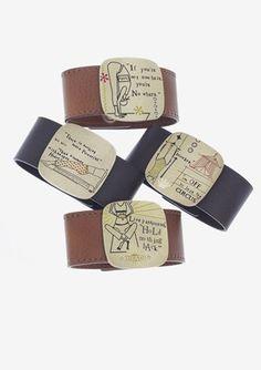 Bellas estas pulseras con mensaje de la firma italiana Francesca Villa