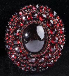 Garnet Jewelry Price Guide: Victorian Garnet Pin