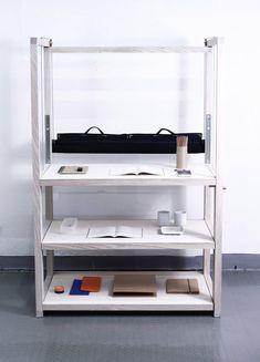 A Shelf of Tables is three desks in one shelf