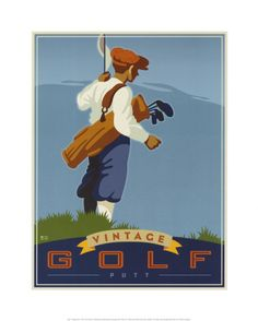 Vintage Golf Posters and Prints