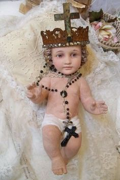 Large antique infant Jesus vintage plaster by AnitaSperoDesign, $330.00