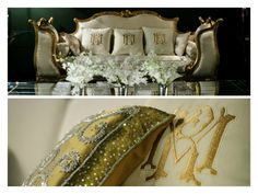 Detalhes do sofá | Decoração das mesas | Detalhes florais | Casamento | Wedding | Flores | Flowers | Decoração | Wedding Decor | Inesquecível Casamento | Detalhes | Details | Almofada personalizada