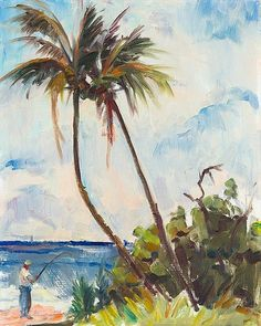 image conscious - R1108D Fishing under Palms by Richard A. Rodgers