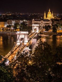 Chain Bridge - Budapest, Hungary Judging by the map this is relatively cheap city that is in between France and Croatia. Just putting options out there! Also recommended by Jessie Places Around The World, Oh The Places You'll Go, Places To Travel, Travel Destinations, Places To Visit, Around The Worlds, Wonderful Places, Beautiful Places, Hungary Travel