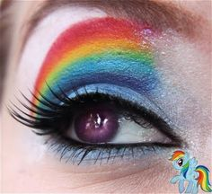 Little Pony Friendship is magic by Makeup your Jangsara: Pinkie Pie, Rainbow Dash, and Rarity tutorial. Little Pony Friendship is magic by Makeup your Jangsara: Pinkie Pie, Rainbow Dash, and Rarity tutorial. Rainbow Dash, Rainbow Eyes, Rainbow Makeup, Rainbow Brite, Rainbow Unicorn, Pony Makeup, Makeup Art, Eye Makeup, Beard Makeup