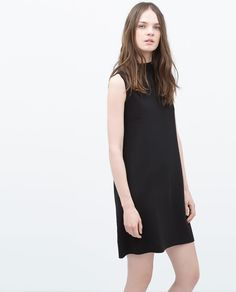 HIGH COLLAR DRESS from Zara