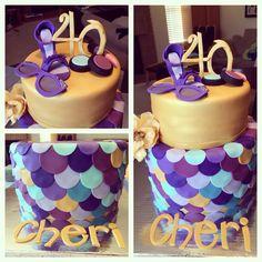 40 and fabulous birthday cake!