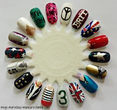 I think I'm going do a Harry nail and a Louis nail like one of these One Direction Nails, One Direction Concert, 1d Concert, Cute Nail Art Designs, Nail Polish Designs, Love Nails, Fun Nails, Magic Nails, Crazy Fans
