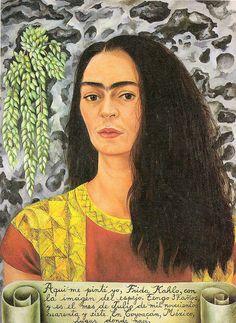Frida Kahlo - Self-Portrait with inscription, 1944 | Flickr - Photo Sharing!