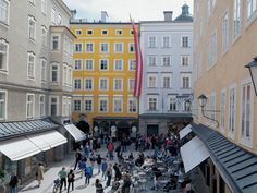 Wolfgang Amadeus Mozart's (1756-1791) birthplace, Salzburg, Austria