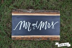 Mr. and Mrs. Chalkboard Sign