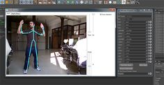 KiCapOSC is a Python based plugin for Maxon's Cinema 4D R12 that reads the Kinect data stream coming from OSCeleteon.