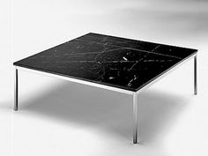 Low square steel coffee table FL39 Fl Collection by Matrix International | design Bassett Florence Knoll