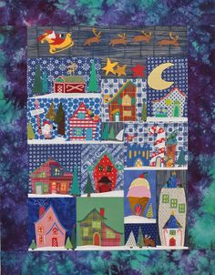 """""""Welcome to the North Pole"""" quilt by Becky Goldsmith's mom.  Piece o' Cake design, posted by Becky"""