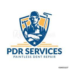 Paintless Dent Repair logo, PDR service logo, automotive company - Buy this stock vector and explore similar vectors at Adobe Stock Florist Logo, Game Logo Design, Service Logo, Logos, Stock Photos, Logo