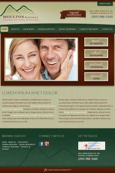 #sesamewebdesign #psds #dental #responsive #green #brown #texture #top-nav #full-width #sans #handwriting